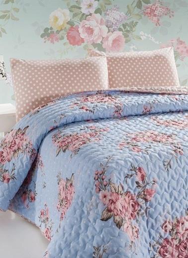 Eponj Home Çift Kişilik Yatak Örtüsü Mavi